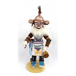 2001 Navajo Mudhead Kachina by by J. Benally