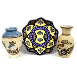 3 Pieces of Mexican Pottery Items
