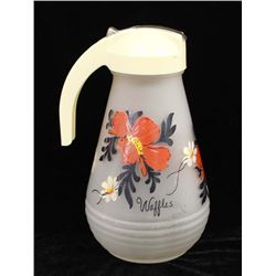 Vintage Hand Painted Syrup Pitcher, ca. 1940's