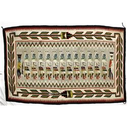 Old Mexican Yei Textile Rug
