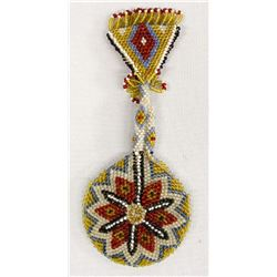Native American Sioux Beaded Pocket Watch Case
