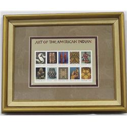 Framed Art of the American Indian Postal Stamps
