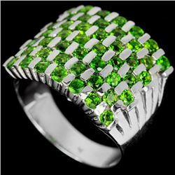 Natural Green Chrome Diopside Ring
