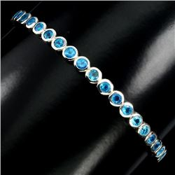 Natural Rare Brazil Blue Apatite Bangle