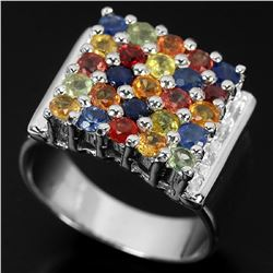 Natural Fancy Sapphire 35 Carats Ring