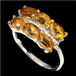 Natural Top Rich Yellow Citrine Ring