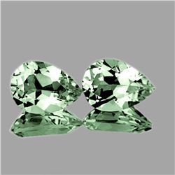 Natural Green Tea Amethyst Pair 13x9 MM - FL