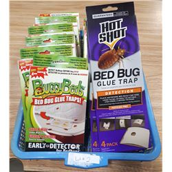 LOT OF BED BUG GLUE TRAPS