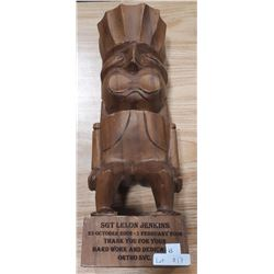 WOODEN CARVED STATUE
