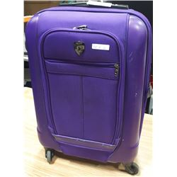 PURPLE HEYS SUITCASE ON WHEELS