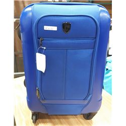 BLUE HEYS SUITCASE ON WHEELS