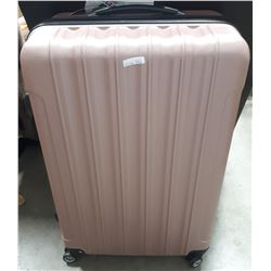 PINK SUITCASE ON WHEELS