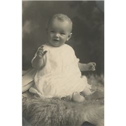 Marilyn Monroe personal baby photograph - Norma Jeane at 8 to 10 months.