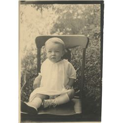 Marilyn Monroe personal baby photograph - Norma Jeane at 15 months.