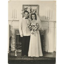 Marilyn Monroe personal wedding photograph - Norma Jeane Baker and Jim Dougherty.