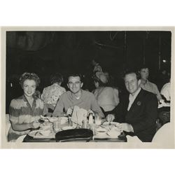 Marilyn Monroe personal photograph - Norma Jeane & Jim Dougherty at restaurant with souvenir folder.