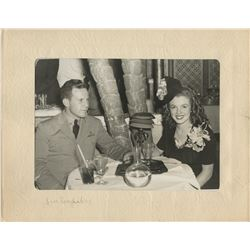 Marilyn Monroe personal photograph - Norma Jeane & Jim Dougherty at the Cocoanut Grove with folder.