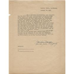 Marilyn Monroe power of attorney document twice-signed as Marilyn Monroe and Norma Jeane Dougherty.