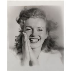 Marilyn Monroe oversize portrait photograph by Andre de Dienes from the Tobey Beach sitting.