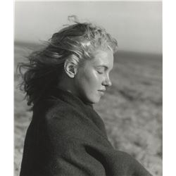 "Marilyn Monroe profile portrait photograph by Andre de Dienes from ""The End of Everything"" session."