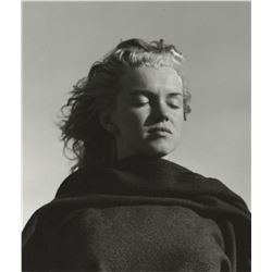 Marilyn Monroe photograph by Andre de Dienes with hand-inscribed title on the verso.