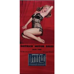 "Marilyn Monroe 1952 ""The Lure of Lace"" large calendar."