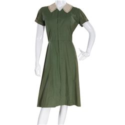 """Marilyn Monroe """"Nell Forbes"""" green and black dress by Travilla from Don't Bother to Knock."""