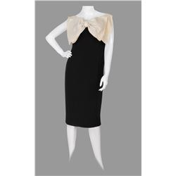 Marilyn Monroe black silk cocktail dress with oversize bow.