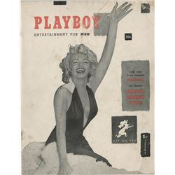 Playboy magazine #1 featuring Marilyn Monroe cover and pin-up.