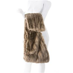 """Marilyn Monroe """"Pola Debevoise"""" silver mink stole from How to Marry a Millionaire."""
