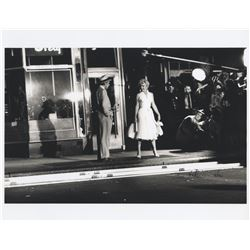 Marilyn Monroe (10) behind-the-scenes photos of the iconic Subway grate scene signed by Bill Kobrin.