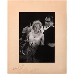 Marilyn Monroe and Arthur Miller extremely rare oversize photograph signed by both.