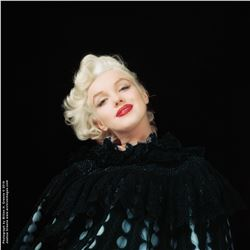 "Marilyn Monroe ""Black Cape Sitting 9"" mammoth exhibition print by Milton H. Greene."