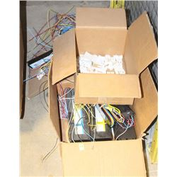 LOT OF ASSORTED BALLASTS AND END CAPS