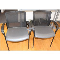 PAIR OF MESH BACK RECEPTION CHAIRS