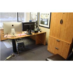 """U"" SHAPED OFFICE DESK WITH 2 FILING CABINETS"