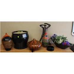 LOT OF ASSORTED VASES AND DECOR