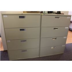 "LOT OF 2 FILING CABINETS 36"" X 20"" X 53"""