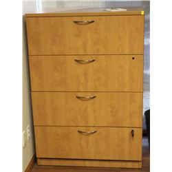 """WOODEN LATERAL FILING CABINET 36"""" X 20"""" X 52"""""""