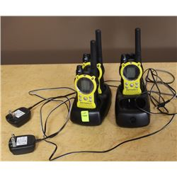 LOT OF 3 MOTOROLA 2-WAY RADIOS WITH 2 CHARGERS