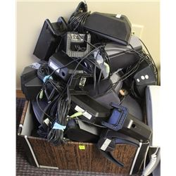 BOX OF ASSORTED COMPUTER SPEAKERS