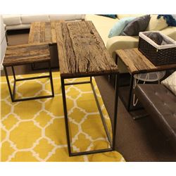 MATCHING COFFEE TABLE, SOFA TABLE AND 2 END TABLES