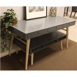 GREY DESK AND COFFEE TABLE