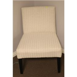BEIGE WEAVE PATTERN LOUNGE CHAIR