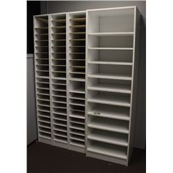 LOT OF 4 OFFICE MAIL SHELVES