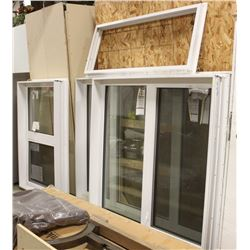 LOT OF 3 WINDOWS AND 1 FRAME