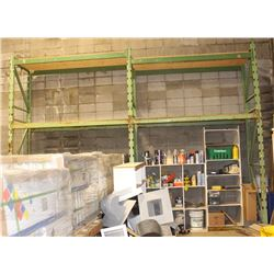 3 SECTIONS OF 8FT HEAVY DUTY PALLET RACKING
