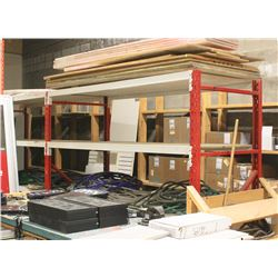 2 SECTIONS OF 8 FT HEAVY DUTY PALLET RACKING