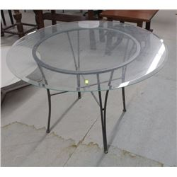 """ROUND 45"""" GLASS DINING TABLE"""