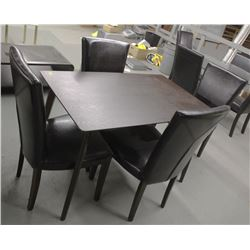 SMALL WOOD DINING TABLE WITH 4 CHAIRS